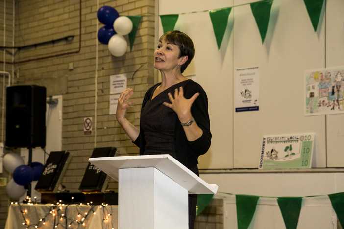 Goodmeny voucher scheme launch Brighton Caroline Lucas - Ashley Laurence - Time for Heroes Photography