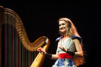 Brighton, UK. 1st November 2015. Joanna Newsom, American singer-songwriter and harpist, performs live at the Brighton Dome in Brighton, England, on her second UK tour date. The tour follows the release of her fourth album - and first in five years - 'Dive