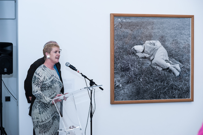 Speeches and artworks at the Art from Elsewhere private view