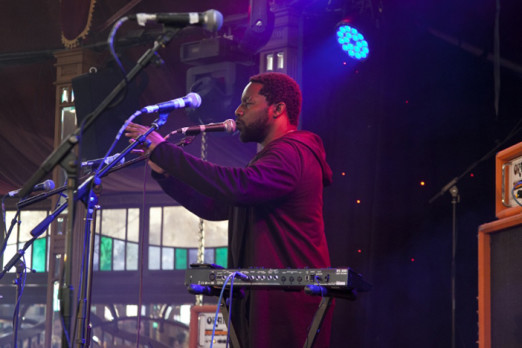 Sly Johnson, Spiegeltent, photo by Gili Dailes