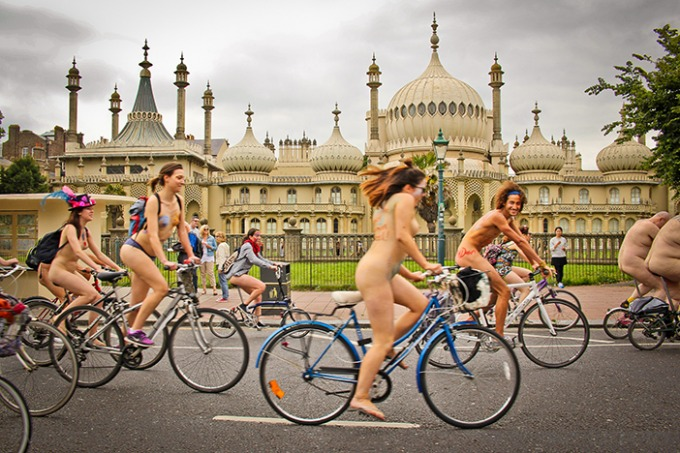 Naked Bike Ride | Brighton Source | Photo by Sas Astro