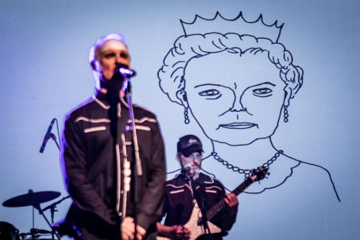A photo of Problem in Brighton, David Shrigley's alt-rock pantomime at The Old Market for the Brighton Festival 2018