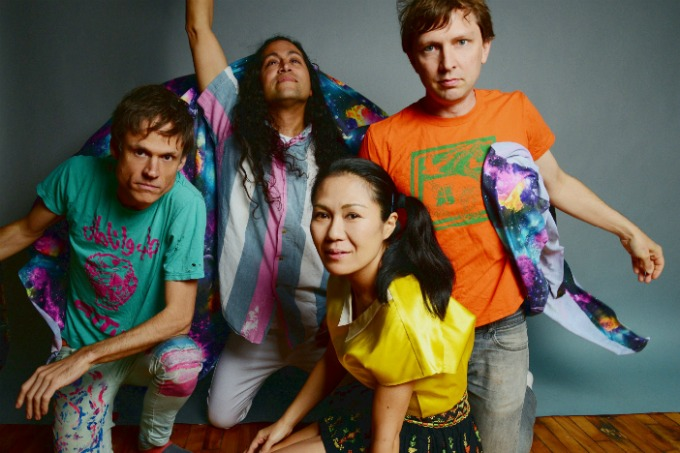 A photo of colourful four-piece punk band Deerhoof at Brighton Dome for the Brighton Festival