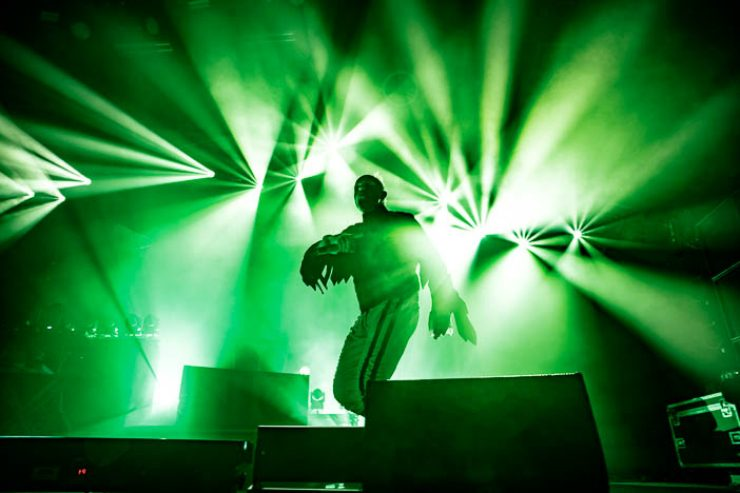 A photo of The Prodigy playing the Brighton Centre taken for Brighton Source by Sam Sesemann