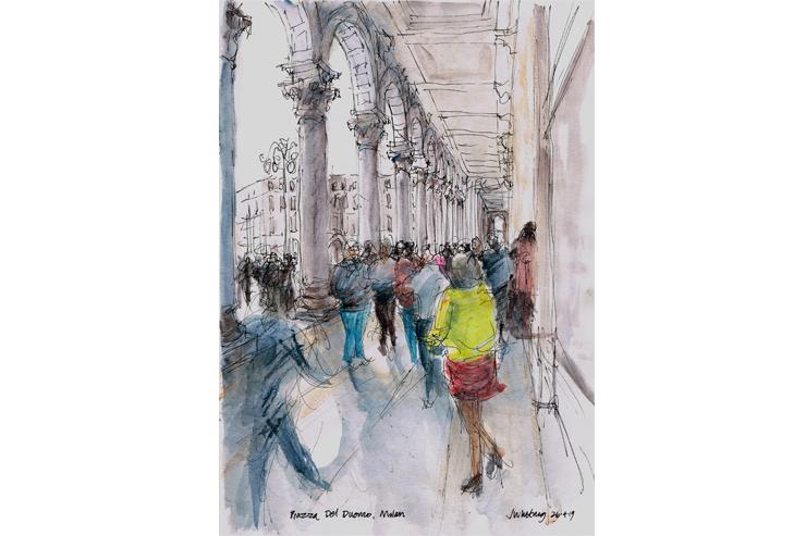 John-Whiting-Piazza-Del-Duomo-Milan