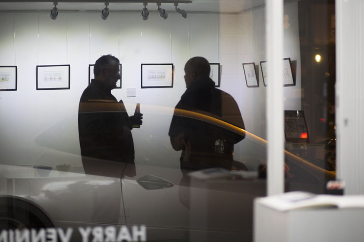 Harry Venning - exhibition- Clare in the Community - 35 Gallery North - Brighton Source - Time for Heroes Photography - Ashley Laurence