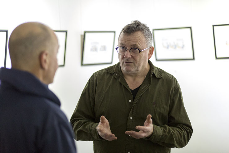 Harry Venning interview - Clare in the Community - 35 Gallery North - Brighton Source - Time for Heroes Photography - Ashley Laurence