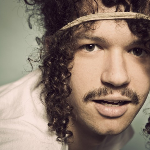 A photo showing Darwin Deez ahead of his show at Concorde 2 in Brighton